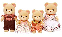 Bear posable collectable figures Four piece set: Father, mother, brother and sister Dressed in removable fabric clothing Bear father is mayor of Sylvanian Village Suitable for ages 3 years to 10 years
