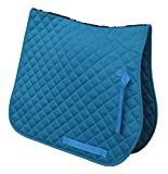 Rhinegold Cotton Quilted Saddle Cloth-Full-Turquoise