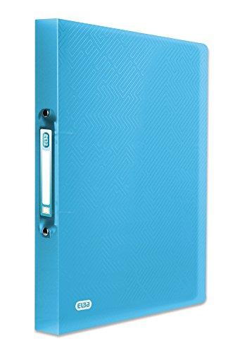 ELBA Urban Ringbuch A4, aus Kunststoff, 2 Ringe, Rückenbreite 4 cm, transparent, blau, 1 Stück
