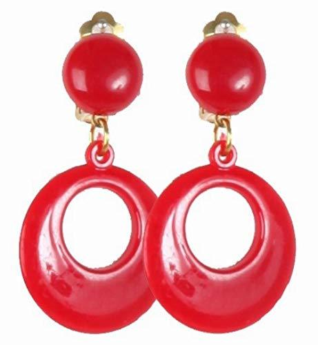 Disfraces FCR - Pendientes andaluza infantil rojos