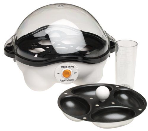 West Bend Automatic Egg Cooker 120 V/350 W Clear White