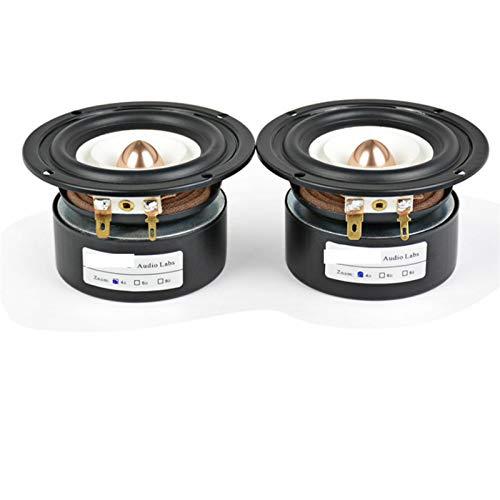 JINGERL 2 stücke 3inch Audio tragbare Lautsprecher 4 Ohm 8 Ohm 15w Full Range HiFi Bass Lautsprecher Altavoz Portatil Lautsprecher DIY Heimkino (Color : Round 8Ohm 15W)