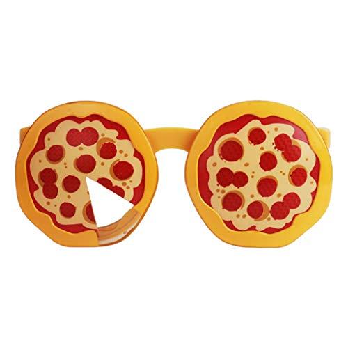 Lustige Brille Sonnenbrille Party Brillen Spaßbrille Dekobrille Partybrille Cosplay Kostüm Zubehör - Pizza
