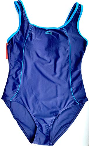 Slazenger Damen Badeanzug in der Farbe dunkelblau/türkis XXL