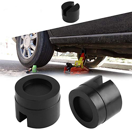 MezoJaoie 1Pack geschlitzte Gummipolster, Universal-Schienenschutz für geschlitzte Rahmen Jack Guard Adapter-Gummipolster