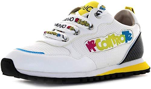 Scarpe Bambino Liu-Jo Sneaker Me Contro Te Wonder 10 con luci LED off White ZS21LJ04