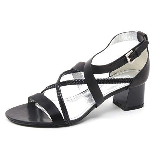 Hogan B4138 Sandalo Donna 187 Scarpa Con trecce nera Sandal Shoe Woman [36]