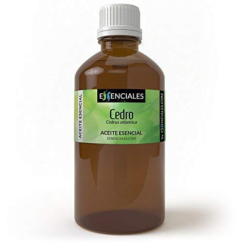 Essenciales - Aceite Esencial de Cedro, 100% Puro, 200 ml | Aceite Esencial Cedrus Atlantica