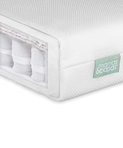 Mamas & Papas Baby Premium Pocket Spring Mattress for Cotbed, Nursery Furniture – 140 x 70 x 10cm