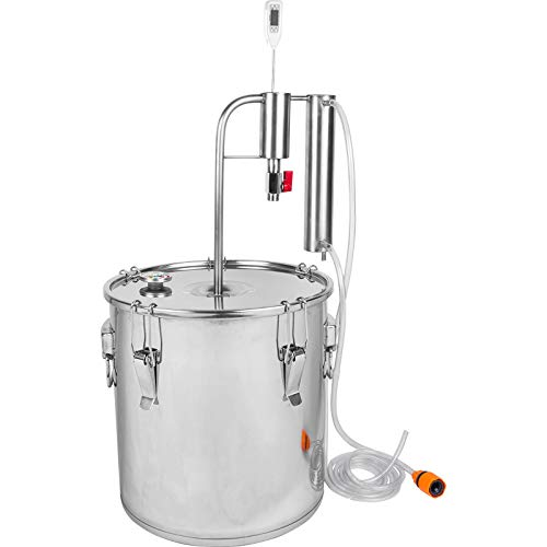 AlcoFermBrew Destillierapparat mit Kühler und Absetzbecken 18L | Brennapparaten