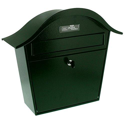 Burg-Wächter Briefkasten, A5 Einwurf-Format, Verzinkt, Stahlblech, Holiday 5842 GR, Grün