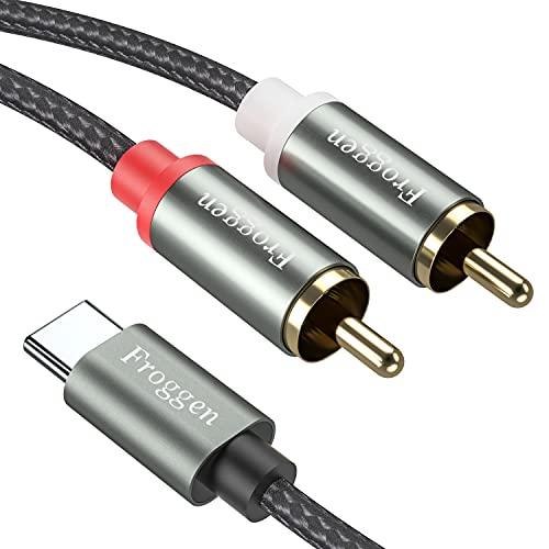 USB Tipo C Maschio a 2 RCA Maschio, Froggen Type C a 2x RCA Audio Cavo Cavo audio con 2 connettori RCA e con spinotto USB di tipo C per Huawei Samsung Xiaomi Laptop ecc