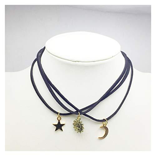 WDSFT Collar Delicado para Mujer Collar de Mujer Collar de Cadena de clavícula - Punk Rock gótico tórica de Gargantilla - Cintura Ajustable Cintura Cintura arnés Jaula de Jaula (Color : 3PCS)