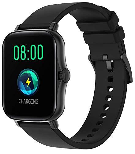 DSY Smart Watch Fitness Tracker Touch Pantalla Táctil 1.69 Pulgadas Hombres Mujeres Smartwatch Fitness Sports Step Rastreo Lady Wristwatch Smart Pulsera Black Rastreador de Actividades