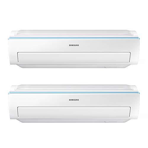 Samsung Clima AR09RXWSAURNEU+AR12RXWSAURNEU+AJ040NCJ2EG/EU New Triangle Dual Split Climatisator, Wi-Fi, 9000+12000 BTU, Weiß