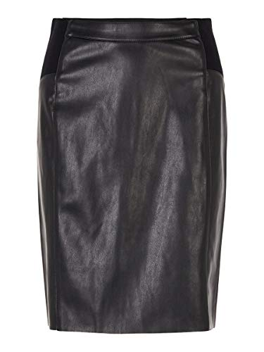 VERO MODA Damen Rock High Waist MBlack