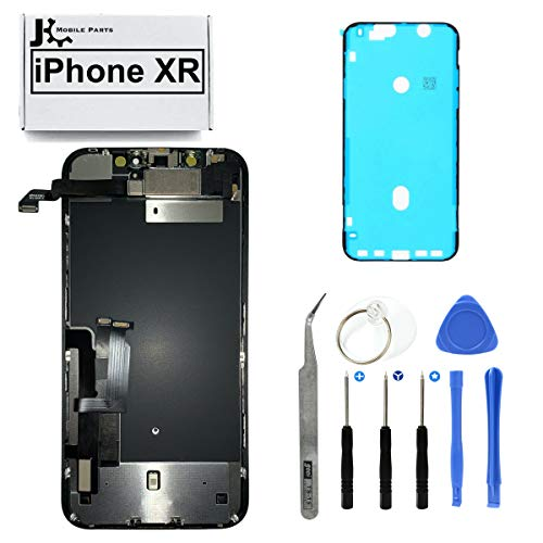 Full Screen Replacement LCD 3D Touch Assembly with Pre-Installed Ear Speaker Proximity Sensor and Shield Plate with Frame Adhesive and Repair Tools for iPhone XR 6.1 inch