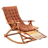Tomar el sol reclinable de bambú plegable Tumbona Tumbonas de jardín Asiento ajustable de gravedad cero para viajes / vacaciones / interiores / exteriores Peso del rodamiento 200 kg