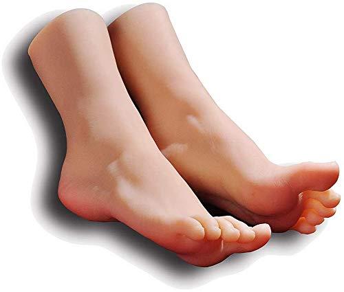XHH 1 Par Silicona Maniquí Pie Los pies Fetiche del pie Accesorios de Modelos de Calzado con Texturas Realistas Así como La Colección De Arte Y Fetiches, para Exhibir Joyas