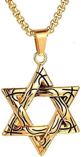 NC198 Collar con Colgante de Acero Inoxidable, joyería de Israel para Hombres, Mujeres
