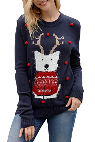 Pink Queen Unisex Ugly Christmas Xmas Pullover Sweater Jumper Fox S