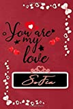 Sofia You are my love Valentine day notebook, Sofia Notebook a Beautiful: Lined Notebook / Journal Gift, valentine's day personalized ... Notebook 2020, Valentine Diary, Sofia, Soft