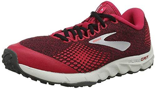 Brooks PureGrit 7, Zapatillas de Running Mujer, Multicolor (Pink/Black/Grey 688), 36.5 EU