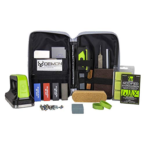 Demon Mechanic Elite X Ski Tuning Kit & Snowboard Tuning Kit with Ski Wax Iron, Ski and Snowboard...