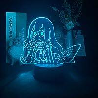 3DランプアニメMyヒーローアカデミアフィギュアライト寝室の装飾チャイルド誕生日クリスマスギフトアニメランプカラー変更スマートコントロール-接する