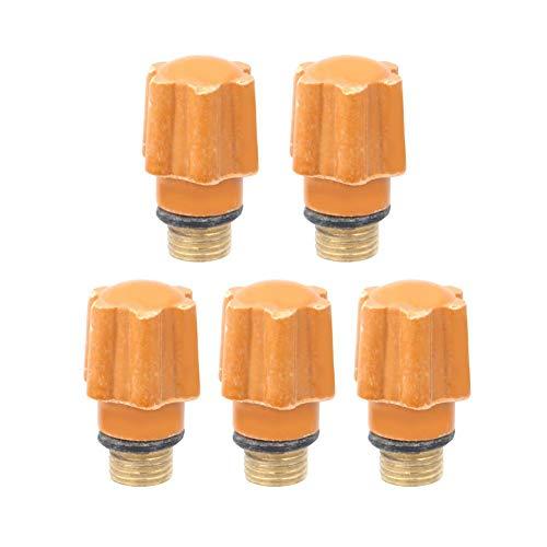 5pcs QQ150 TIG Consumibles de antorcha de soldadura Tapas traseras largas/cortas Piezas de repuesto Accesorios de soldadura de arco de argón con perno de latón(Short)
