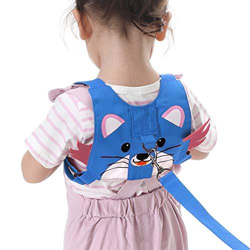 Yuccer Baby Kleinkind Sicherheitsleinen, Kinder Sicherheit Gurt für Gehen, Anti-verloren gürtel Verstellbar (Blau Tiger)