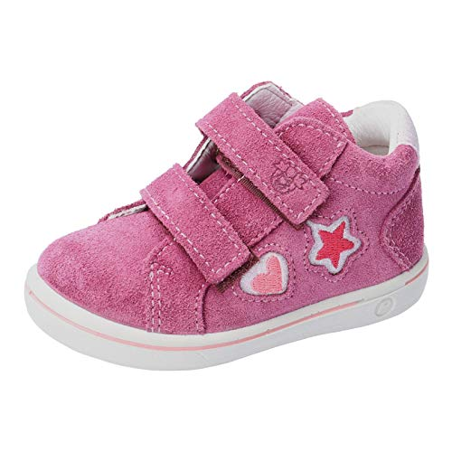 RICOSTA Kinder Stiefel Melina von Pepino, Weite: Mittel (WMS), detailreich Freizeit Boots Klettstiefel Leder Kinder,Fuchsia,25 EU / 7.5 Child UK