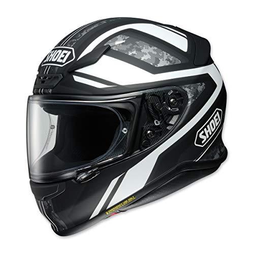 Shoei Unisex Adult RF-1200 Parameter Black/White Full Face Helmet 0109-3005-03