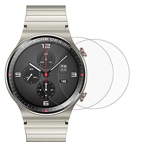 Displayschutzfolie für Huawei Watch GT 2 Porsche Design, [2er-Pack] Ultra Dünn Kratzfest Klar Displayschutzfolie Schutzfolie für Huawei Watch GT 2 Pro Smartwatch