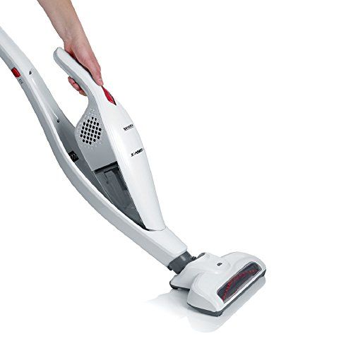 Severin Germany 2-in-1 Cordless Rechargeable Upright Stick with Detachable Handheld Vacuum Cleaner - Includes Brush & Crevice Tools, White