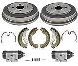 4 Lug Only Drums Brake Shoes Springs Wheel Cylinders for Chevrolet Cobalt 05-08
