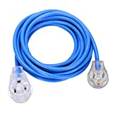 Welder Extension Cord, S7 50A plug 3-Prong 250-Volt, 6-50P/6-50R SJT 3/C 12AWG(Replaceable 8AWG) Blue Welder Extension Cords(25') Welding Machine Heavy Duty Cords …