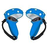 QZH La Cubierta del Controlador VR es Compatible con la Cubierta del Anillo Protector 2, un par de Cubiertas de Agarre de Silicona para Auriculares Azules