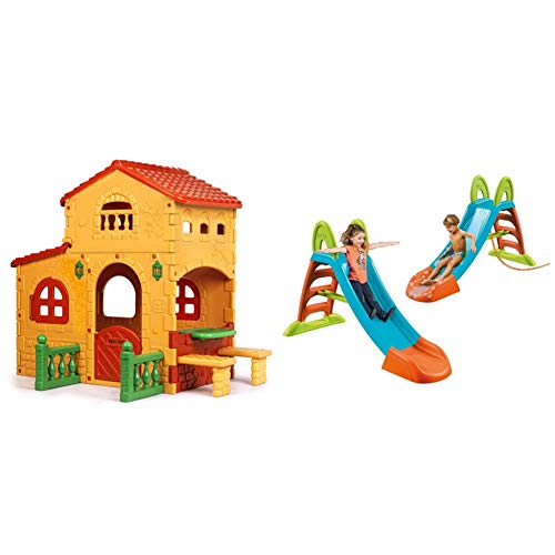 Feber Famosa 800008590 - Grande Villa & Famosa 800009001 - Scivolo Feber Junior, 42 X 28 X 120 Cm
