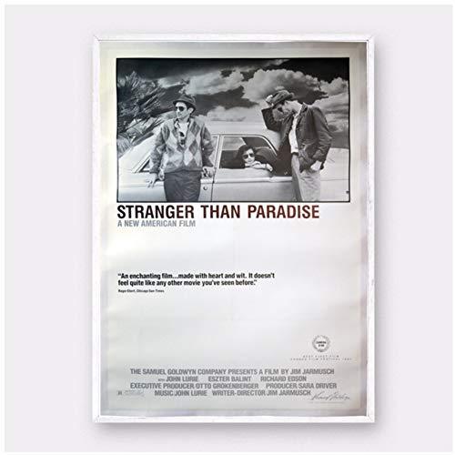 Stranger Than Paradise movie silk Poster Prints Home Decoración de la pared Pintura Decoración de la sala en la sala de estar cocina oficina entretenimiento -50x70cm Sin marco