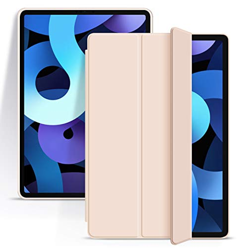 ZOYU New iPad Air 4th Generation Case 2020 iPad 10.9 Case Slim Lightweight Smart Soft TPU Back Shell Stand Cover with Auto Wake/Sleep Protective Cover for iPad Air 4 10.9 inch (Pink)