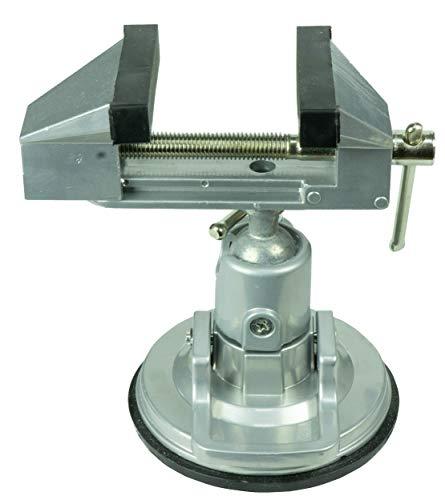 HRB Schraubstock 80 mm 360° drehbar mit Saugnapf Tischschraubstock, Feinmechanikerschraubstock