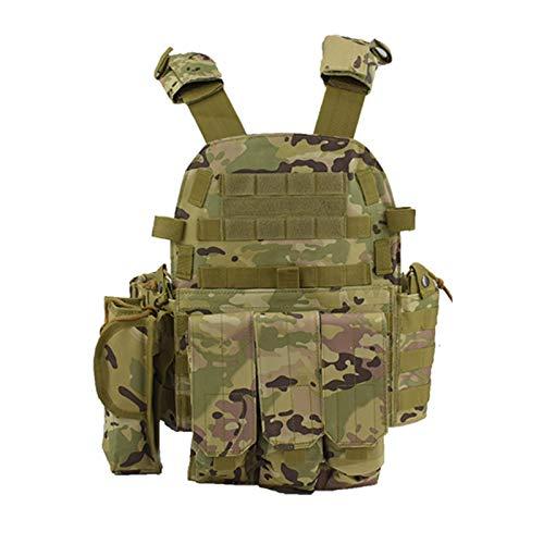 DZJUKD Chaleco táctico , Tactical Molle Chaleco Militar Ejército Combate Capacitación Cuerpo Armadura Chaleco Caza al Aire Libre Airsoft Sport Protection Chalecos para Entrenar Juegos de Paintball