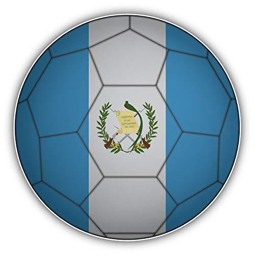 DKISEE - Adhesivo para ordenador portátil, diseño de bandera de Guatemala y pelota de fútbol de vinilo flexible, resistente al agua para coches y bicicletas, 6 pulgadas