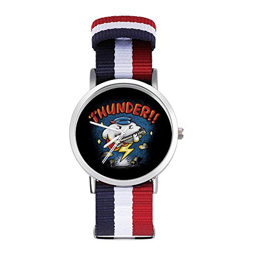 Thunder Raincloud - Reloj de pulsera trenzado con escala para guitarra eléctrica