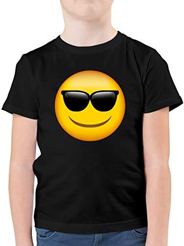 Anlässe Kinder - Emoticon Sonnenbrille - 164 (14/15 Jahre) - Schwarz - Kinder Tshirt - F130K - Kinder Tshirts und T-Shirt für Jungen