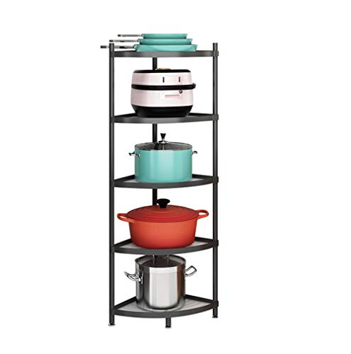 5-Tier Kitchen Pot Rack Cookware Stand Storage Organizer Multi-layer Corner Shelf Stainless Steel Shelves Shelf Holder