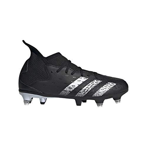adidas Predator Freak .3 SG J, Zapatillas de fútbol, NEGBÁS/FTWBLA/NEGBÁS, 28 EU