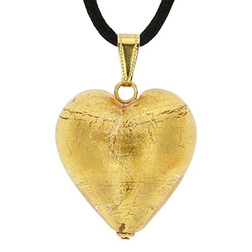 GlassOfVenice Murano Herz Anhänger - Rose Gold