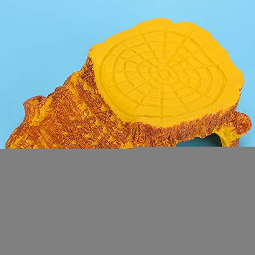SALUTUYA Plataforma para Tomar el Sol de Reptiles acuáticos de Peso Ligero y fácil de Transportar, fácil de Manejar, 5.1x3.5x1.9in para Tortuga, almacenar Algo de Comida